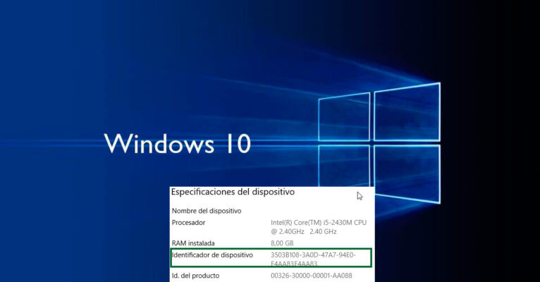 Modificar el identificador de dispositivo en Windows
