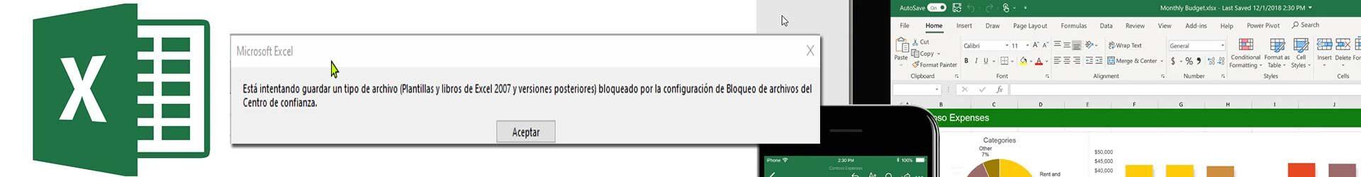 Error está intentando guarda un tipo de archivo plantilla o libro Excel bloqueado